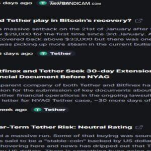 Latest   Tether   (USDT)   News Today - Last Week Crypto -crypto news-   cryptocurrency news