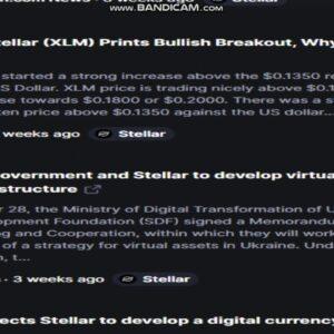 Latest   Stellar   (XLM)   News Today - Last Week Crypto -crypto news-   cryptocurrency news