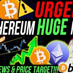 URGENT!!🚨 ETHEREUM HUGE MOVE!! BITCOIN NEWS & PRICE TARGET!!! ALTCOIN PORTFOLIO UPDATE!!